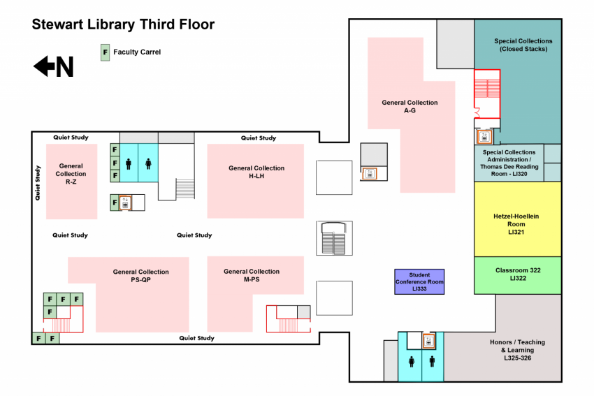 Library Map Stewart Library